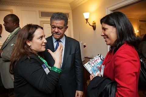 Leonel Fernández at Chubb Fellowship reception