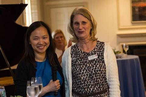 Mary Lui, Head of Timothy Dwight College with Susan Wigler, Associate Chubb Fellow