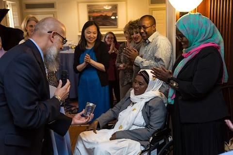 Chubb Fellowship reception for Hawa Abdi at Timothy Dwight College House
