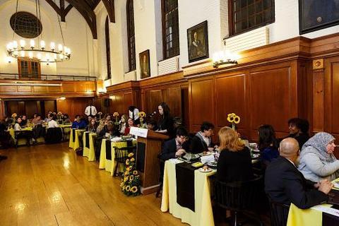 Chubb Fellowship student dinner honoring Faith Ringgold