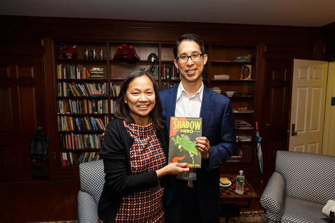 Mary Lui, Head of Timothy Dwight College with Gene Yang