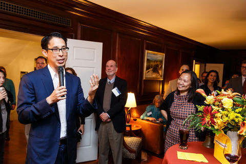 Gene Yang Speaks at Timothy Dwight Fellows Reception