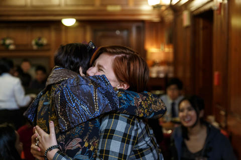 Representative Rosa DeLauro Re-connects with Student Intern