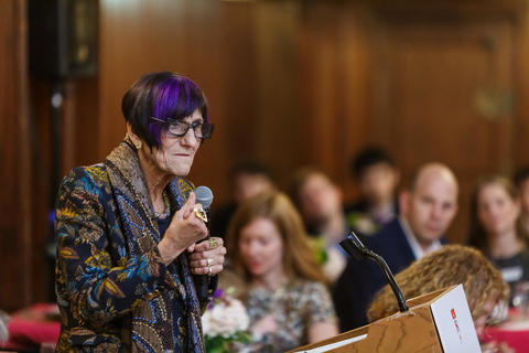 Representative Rosa DeLauro Speaks to Students and Staff at Chubb Fellowship Dinner