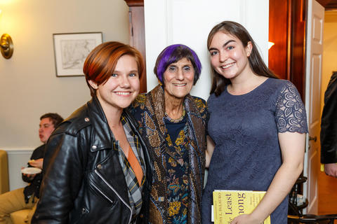 Representative Rosa DeLauro Strikes a Pose with Student Interns