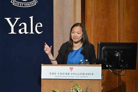 Mary Lui welcomes Hawa Abdi to Yale Universithy and the Chubb Fellowship