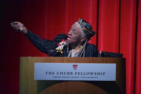 Faith Ringgold at Chubb Fellowship lecture