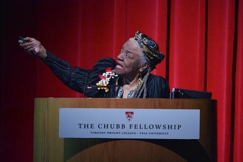 Faith Ringgold at Chubb Fellowship lecture