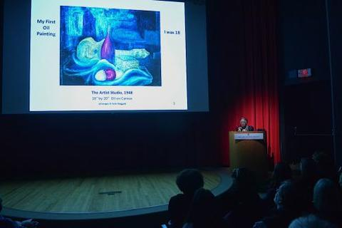 Chubb Fellow, Faith Ringgold, lectures at the Yale University Art Gallery